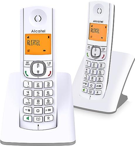 Alcatel F530 Duo - Téléphone sans fil DECT design aux coloris contemporains, Mains libres de qualité, Grand écran rét...