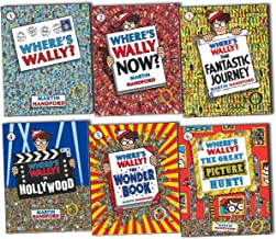 Where's Wally books: 6 large picture books box set (Where's Wally? Where's Wally in Hollywood / Where's Wally Now? The Great Picture Hunt / The Fantastic Journey / The Wonder Books rrp £41.94)