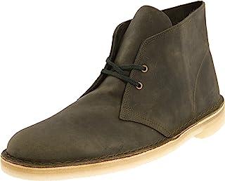 حذاء Desert رجالي من Clarks، جلد زيتوني، مقاس 11 M US