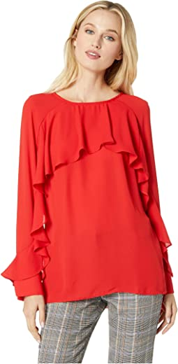 Long Sleeve Ruffled Blouse