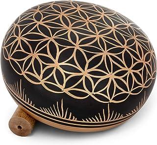 Meditative 6 inch Flower of Life Design Singing Bowl with Mallet and Cushion. Tibetan Sound Bowls for Energy Healing, Mindfulness, Grounding, Zen, Meditation, Feng Shui Meditation Bowl