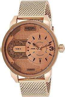 ساعة ميني دادي للرجال بسوار من الستانلس ستيل ونظام عرض انالوج ومينا فضي من ديزل - موديل DZ5600