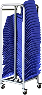 ECR4Kids The Surf Storage Rack with 30 Surfs Package - Mobile Storage Cart Plus 30 Portable Lap Desks/Laptop Stands/Writing Tables, Blue (Pack of 31)
