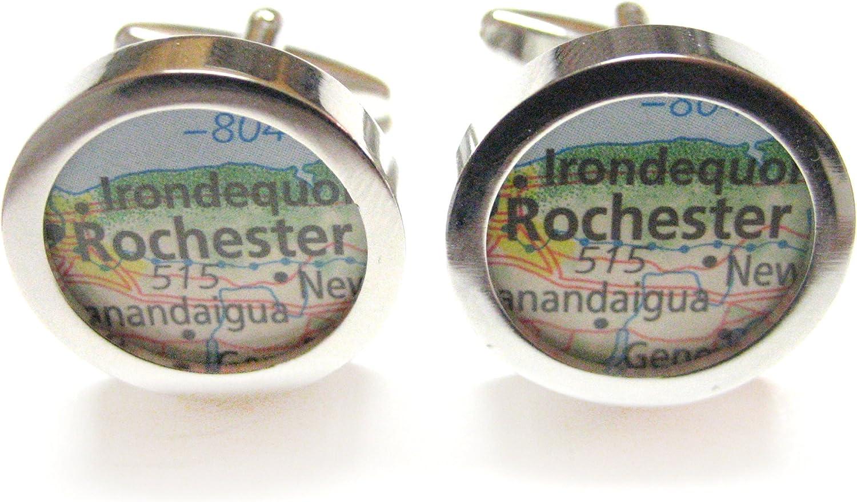 Kiola Designs Rochester New York Map Cufflinks