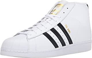 Men's Pro Model Fashion Sneaker, White/Black/White, 11 M US