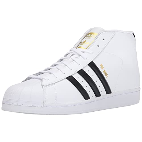 f56cb6136f7 adidas Originals Men's Pro Model Fashion Sneaker, White/Black/White, ...