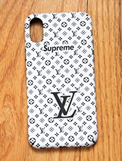 Street Fashion x Hypebeast Collab Slim Durable Hard Case Cover for Apple iPhone 8+ / 7+ (White w/Black Letters, iPhone 8+ / 7+)