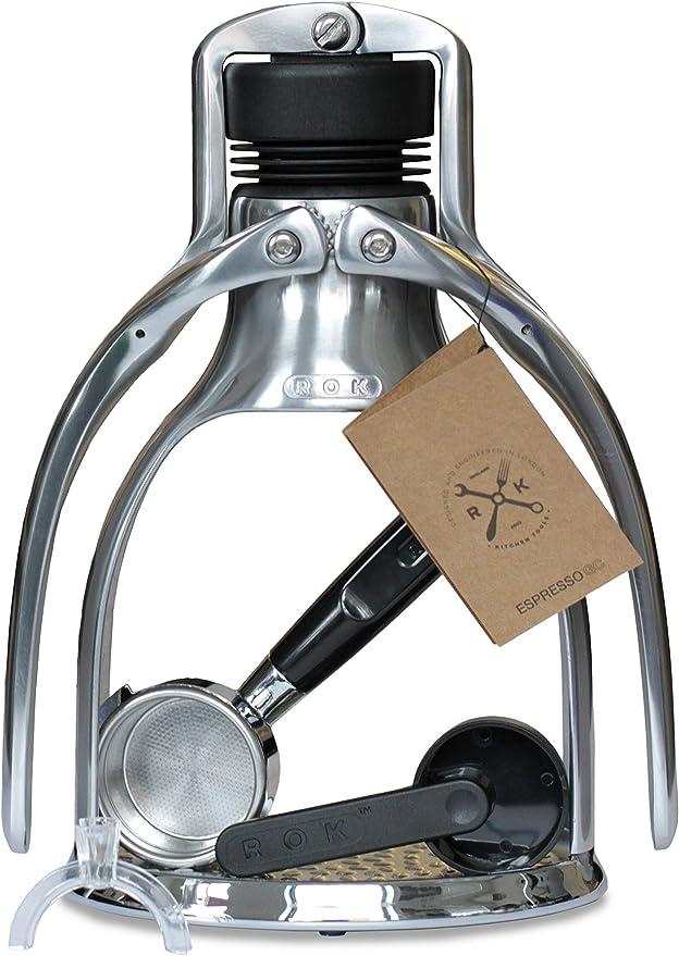 ROK Espresso stainless steel lever espresso machine