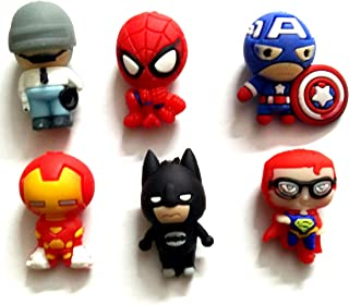 Aayam Design and Solutions Super Heroes Rubber Fridge Magnets - Set of 4 ( Multicolour )