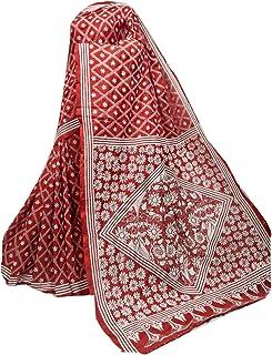 بلوزة ساري منسوجة يدويًا من حرير بانغالور الممزوج بالهندي الأحمر للسيدات من مجموعة كانثا منسوجة يدويًا 909