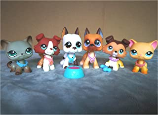 LPSLIKE LPS Collie 1542 58 Raised Paw LPS Great Dane 577 244 Dog Puppy LPS Shorthair Cat 339 391 Kitty with Accessories Lot Collars Toy Figure Collection Boys Girls Kids Gift Set