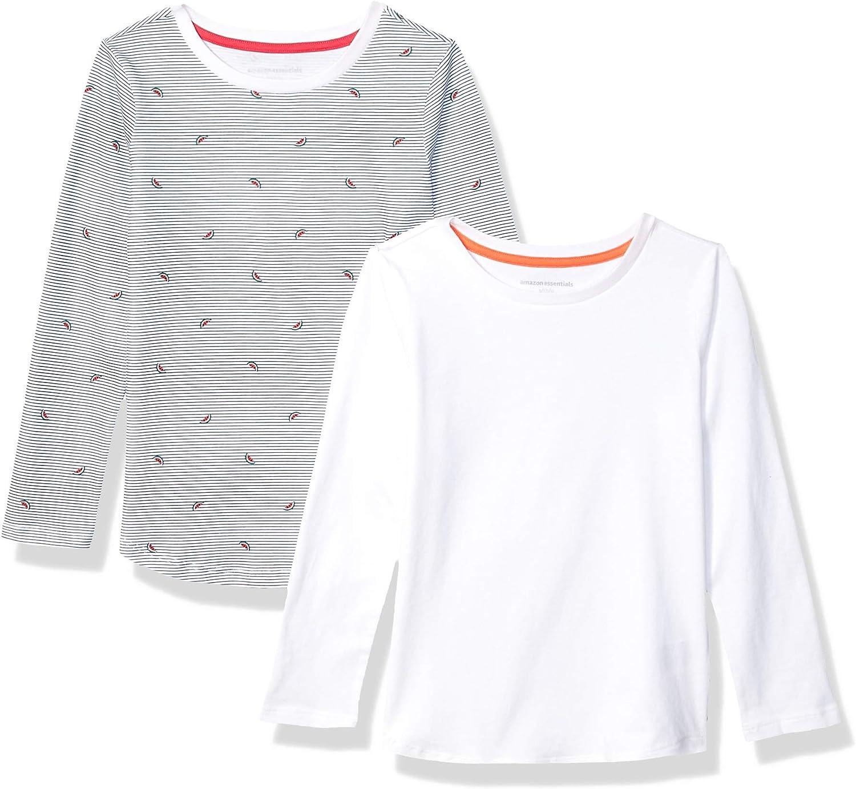 Essentials M/ädchen Girls 2-Pack Long-Sleeve Tees