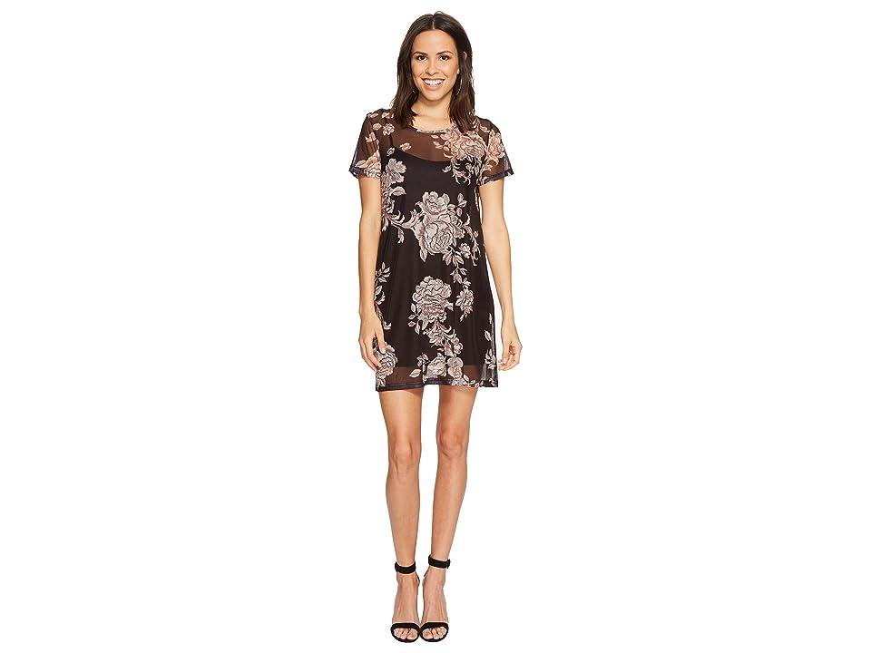 MINKPINK Metallique Mesh Overlay Dress (Multi) Women