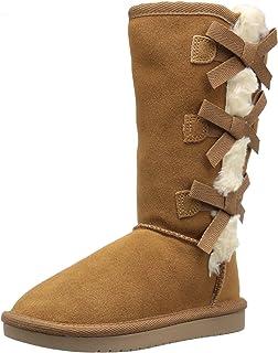 Koolaburra by UGG Victoria Tall Fashion Boot, Chestnut, 13 Youth US Little Kid
