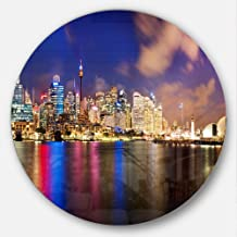 "Designart MT7582-C23 Colorful Sydney Skyline - Cityscape Photography Round - Disc of 23"" ,Brown/Blue,23 X 23"