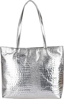 Antin Women's Trendy Stylish Tote/Shoulder Bag Silver Color