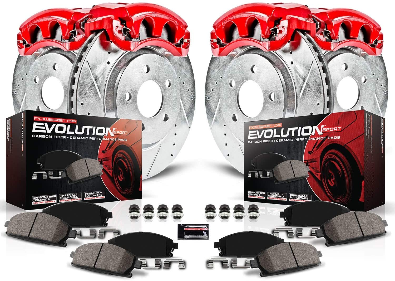 Power Stop KC1079 Z23 Evolution Front Rear and Caliper Kit Max Special price 41% OFF Brake