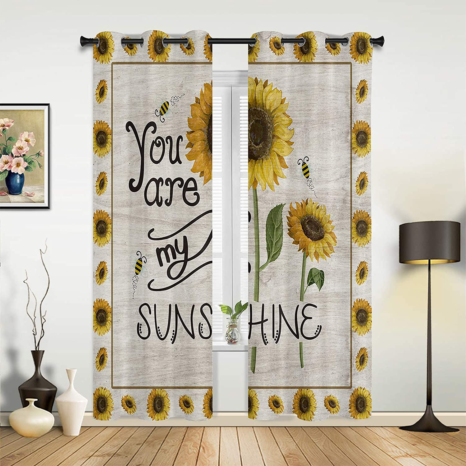 Window Sheer Curtains for Bedroom Room Living Sunflower Discount is also Max 56% OFF underway Idyllic