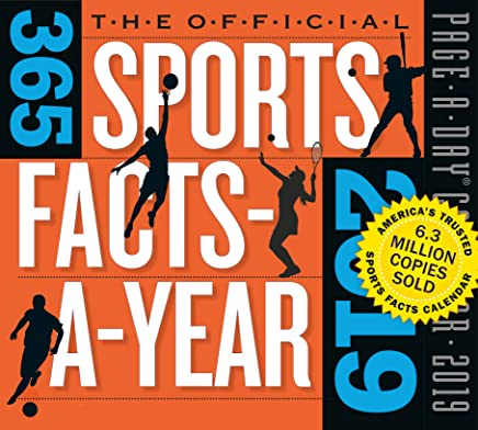 """365 Sports Facts-A-Year Page-A-Day Desk Calendar 2019 [5.5"""" x 6"""" Inches]"""