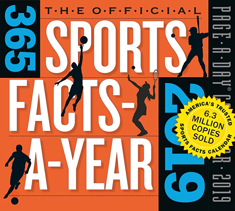 365 Sports Facts-A-Year Page-A-Day Desk Calendar 2019 [5.5