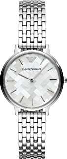 Emporio Armani Women's 'Dress' Quartz Stainless Steel Casual Watch, Silver-Toned - AR11112