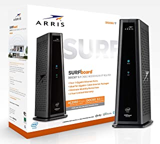ARRIS SURFboard SBG8300 DOCSIS 3.1 Gigabit Cable Modem & AC2350 Dual Band Wi-Fi Router, Approved for Cox, Spectrum, Xfinity & others (black)
