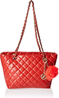 Zeneve London Womens Tote Bag, Red - 1191830532