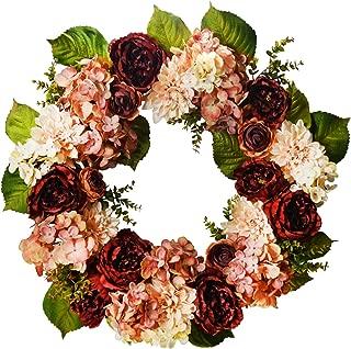 mauve wreath