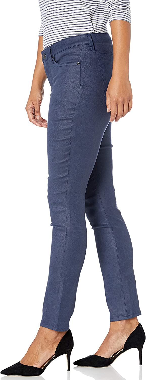 NYDJ Womens Petite Size Alina Skinny Faux Suede Jeans