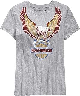 Overseas Tour Harley-Davidson Military Shady Eagle Mens Patriotic Eagle Graphic T-Shirt