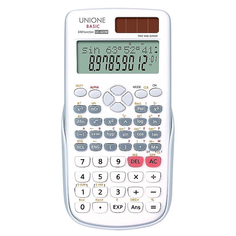 すり減るアコードブラインドUNIONE Scientific 電卓 2ライン 240機能 多機能電卓 オフィス 中高校生 学生 SAT/APテスト計算 UC-400M
