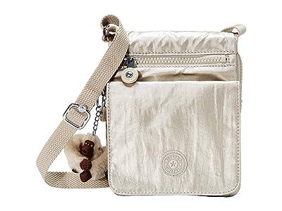 Kipling Eldorado Small Crossbody Bag (Cloud Grey Metallic) Cross Body Handbags