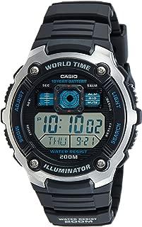 Casio Men's Quartz Watch, Digital Display and Resin Strap Ae-2000W-1Av, Black