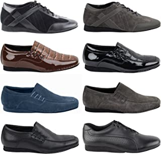GP 50 Shades Mens Flat Dance Dress Shoes: Ballroom Salsa Swing Practice Casual
