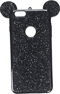 iPhone 6s Plus Case, MC Fashion Cute Sparkle Bling Glitter Mickey Mouse Ears Soft and Protective TPU Rubber Case for Apple iPhone 6s Plus and iPhone 6 Plus - Black