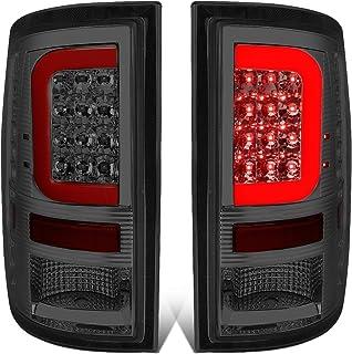 DNA Motoring TL-DRAM09-LED-RD3D-SM-G2 Pair Chrome Housing Smoked Lens Red 3D LED Tail Lights [09-17 Dodge Ram]