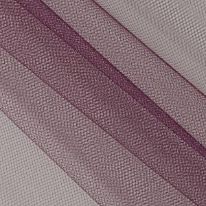 Falk Fabrics 108'' Apparel Grade Tulle Eggplant Purple Dawn Fabric Fabric by the Yard