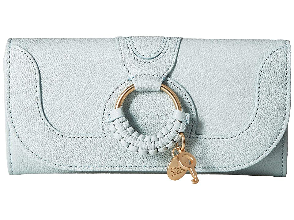 See by Chloe Hana Continental Wallet (Icy Blue) Handbags