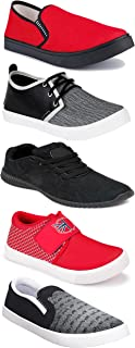 WORLD WEAR FOOTWEAR Sports Running Shoes/Casual/Sneakers/Loafers Shoes for MenMulticolors (Combo-(5)-1219-1221-1140-720-753)