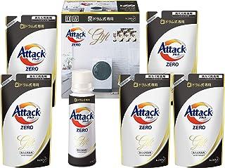 【洗剤ギフト】 アタックZERO ドラム式専用 380g*1本 つめかえ340g*5袋 (抗菌+プラス 24時間部屋干し臭を防ぐ)