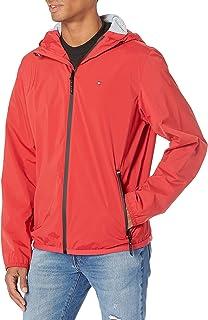 Men's Lightweight Active Water Resistant Hooded Rain Jacket