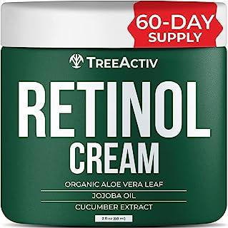 TreeActiv Retinol Cream   Hyaluronic Acid Skin-Firming Treatment for Face, Neck, Chest, Forehead, Hand, & Eye   Anti-Wrink...
