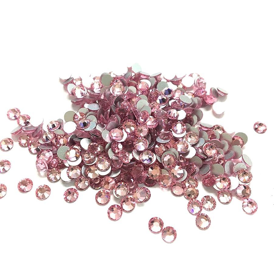 下に向けます構造的ユーモア【ネイルウーマン】スワロ同等の輝き!最高品質ガラスストーン 薄ピンク ライトローズ ラインストーン … (SS3, ライトローズ(薄ピンク))