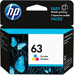 HP 63 | Ink Cartridge | Tri-color | Works with HP DeskJet 1112, 2100 Series, 3600 Series, HP ENVY 4500 Series, HP OfficeJe...