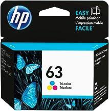 HP 63   Ink Cartridge   Tri-color   Works with HP DeskJet 1112, 2100 Series, 3600 Series, HP ENVY 4500 Series, HP OfficeJet 3800 Series, 4600 Series, 5200 Series   F6U61AN