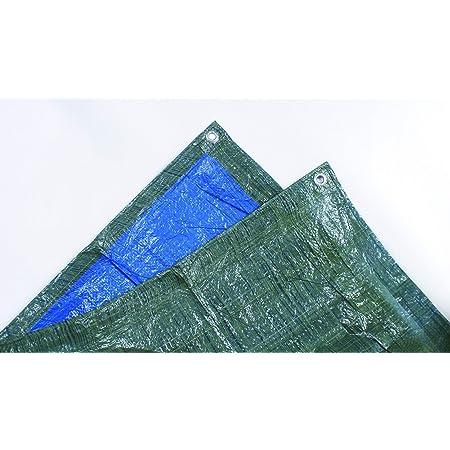 TEC HIT 890050 - Bâche légère de protection - 68g/m² - 2 x 3 m - Bleu (Bleu et vert kaki )