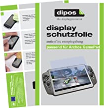 dipos I 2X Protector de Pantalla Mate Compatible con Archos Gamepad pelicula Protectora