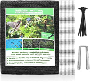 Ouxunus Deer Fence Netting, 7 x 100 Feet Bird Netting Anti Bird Deer Protection Net Reusable Protective Garden Netting for Plants Fruit Trees Vegetables Against Birds, Deer and Other Animals (7x100)
