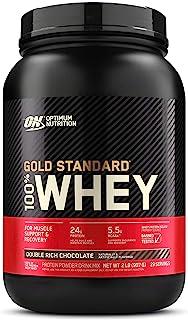 Optimum Nutrition ON Gold Standard 100% Whey Proteína en Polvo Suplementos Deportivos, Glutamina y Aminoacidos, BCAA, Double Rich Chocolate, 29 porciones, 900g, Embalaje puede variar