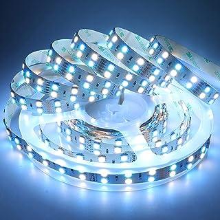 LEDENET 16.4FT Double Row SMD 5050 RGBW Color Changing Flexible LED Strip DC 24V 5M 600LEDs Non-Waterproof RGB White LED R...